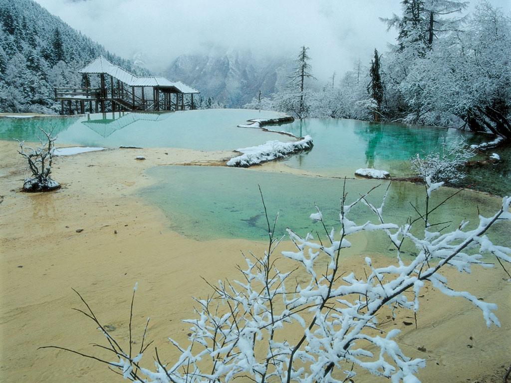 冬天·黃龍風景圖片