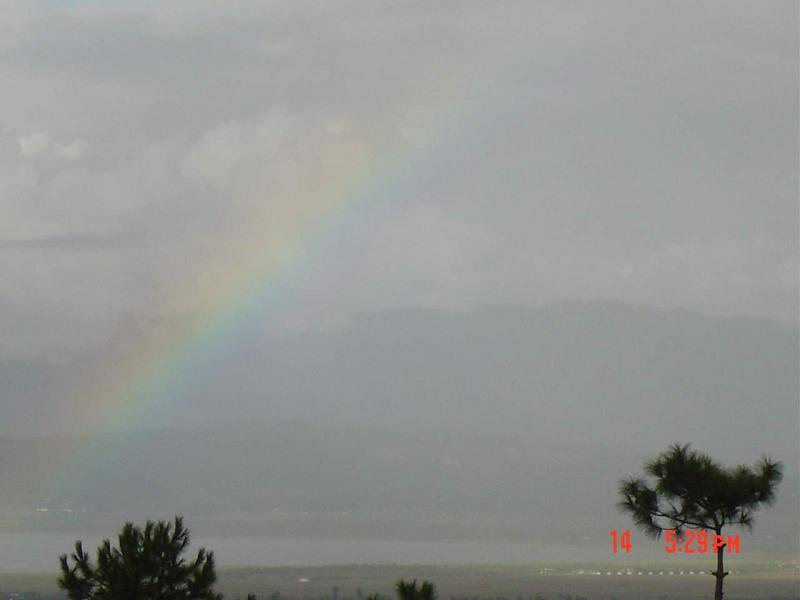 照片:九寨沟的彩虹