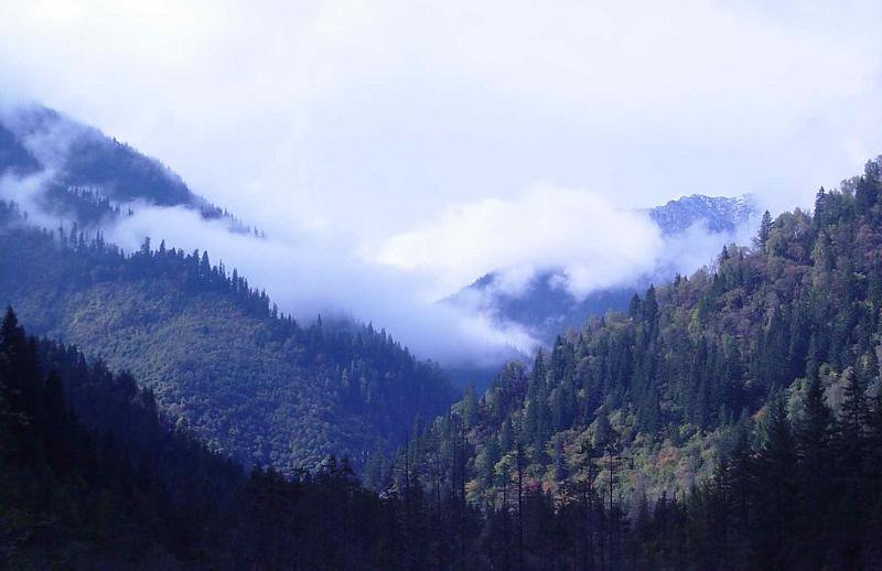 照片:九寨的云