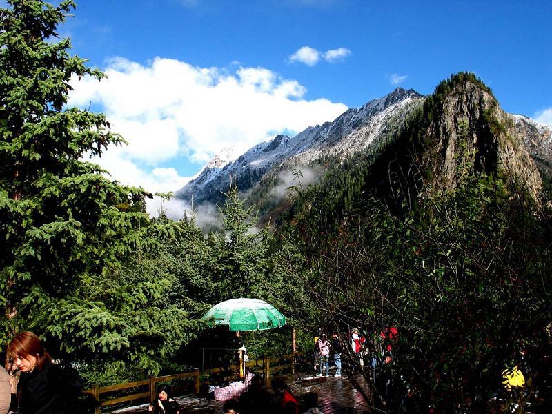 照片:九寨沟的山