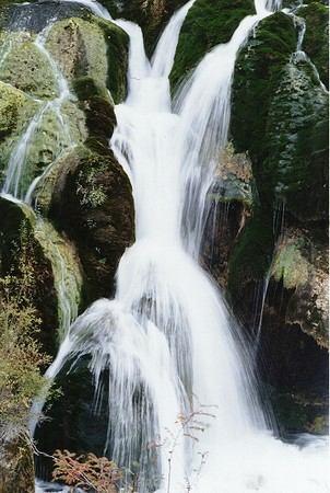 照片:九寨沟树正瀑布(局部)