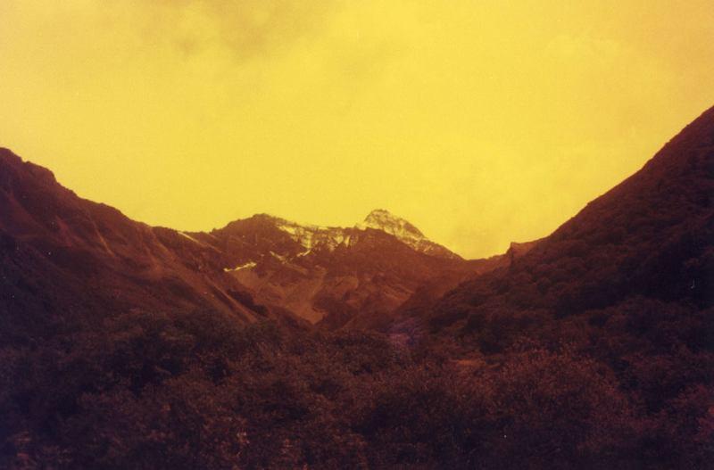 照片:雪宝顶黄昏