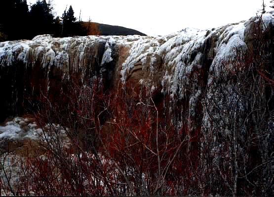 照片:黄龙冰瀑