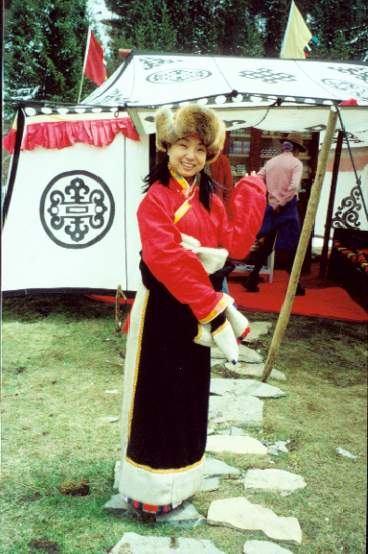 照片:我扮藏族姑娘