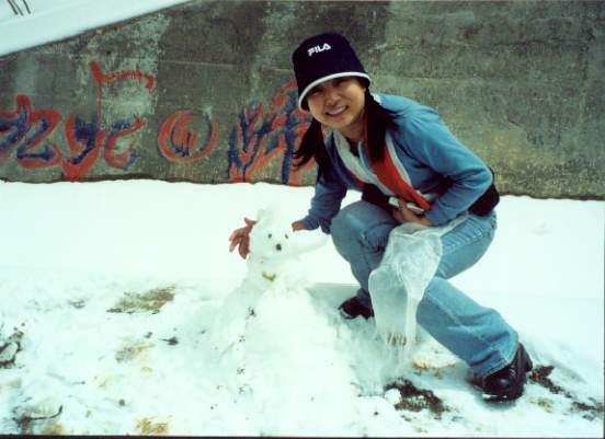 照片:我和小雪人