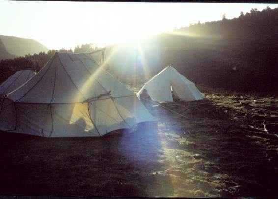照片:营地早晨