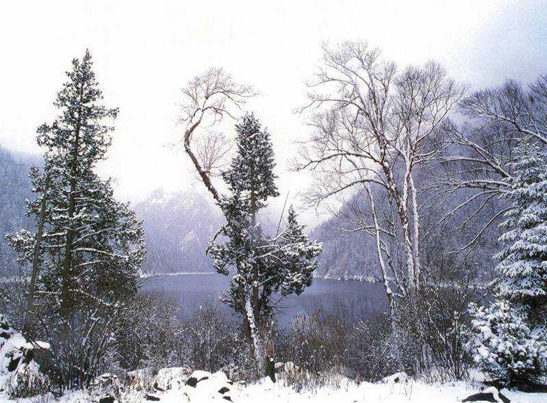 照片:九寨长海之冬