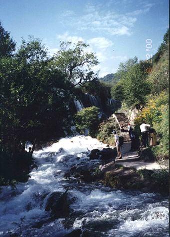照片:九寨 老虎滩瀑布