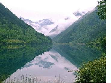 照片:九寨沟--镜湖