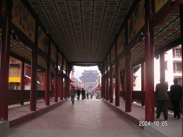 照片:松潘古镇廊桥