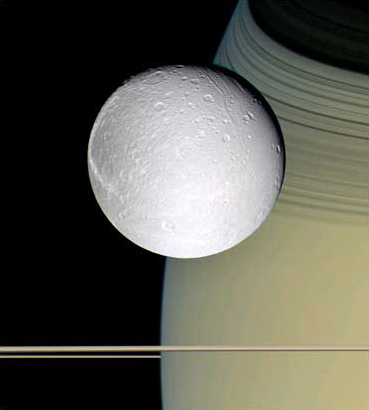 圖文:美國宇航局卡西尼號探測器拍到土衛四照片