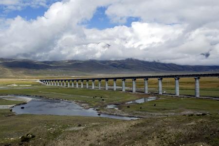 圖文:當雄鐵路大橋