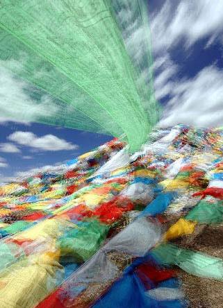 藏北無人區的美麗風景