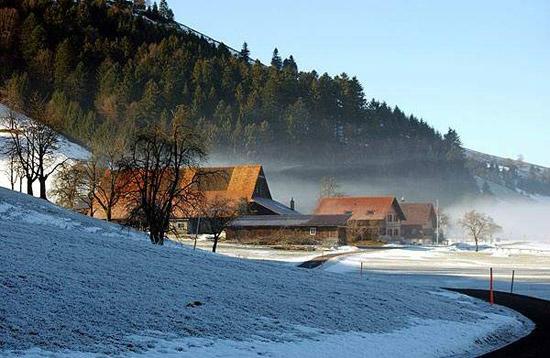 瑞士的美麗風光