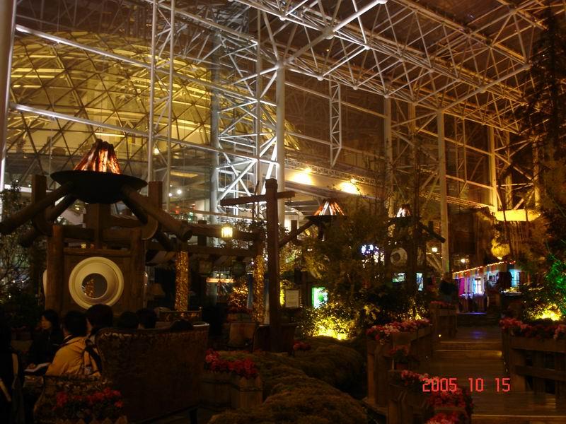 圖片:九寨天堂酒店大堂夜景