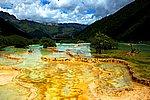 圖片:黃龍五彩池風景