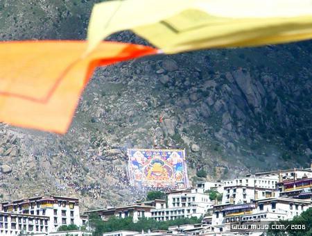 圖文:拉薩色拉寺的曬大佛