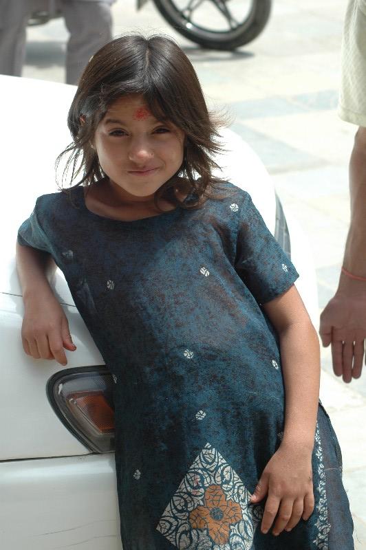 喜馬拉雅風情-加德滿都可愛的小女生