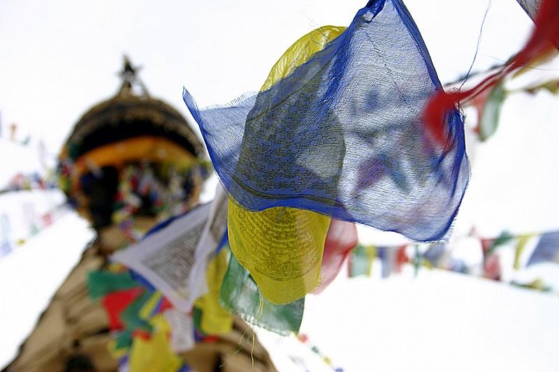 圖片:喜馬拉雅風情-加德滿都猴廟經幡