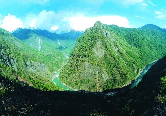 雅魯藏布大峽谷標誌點-扎曲大拐彎