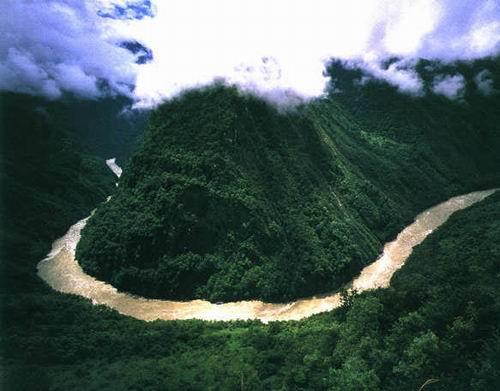 雅魯藏布江大峽谷大拐彎