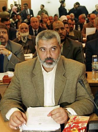 圖文:巴勒斯坦候任總理哈尼亞出席立法委會議