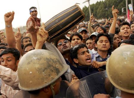 圖文:數萬尼泊爾民眾舉行集會