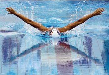 圖文:法國選手參加歐錦賽女子200米混合泳比賽