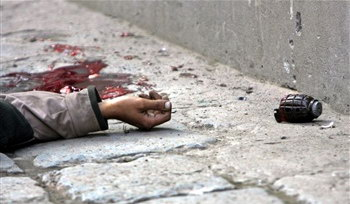 圖文:一名死去的克什米爾武裝嫌犯