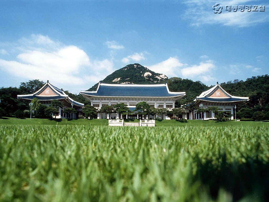 韓國總統府青瓦台圖片