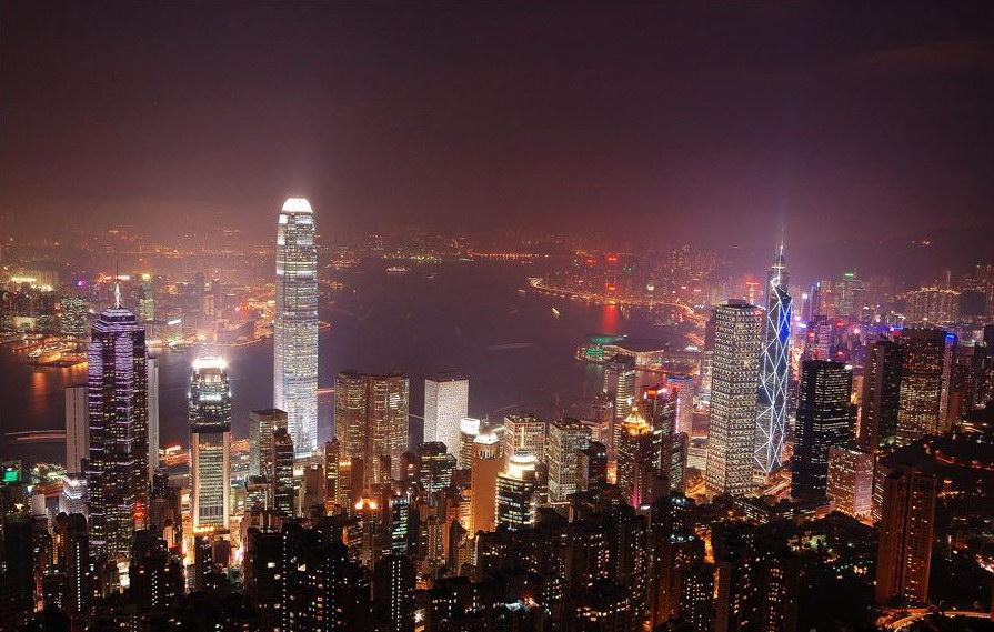 香港夜景圖片
