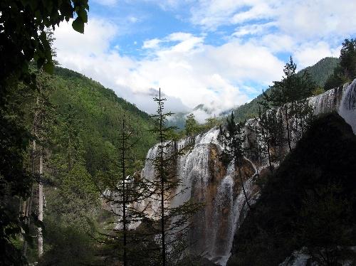 九寨溝圖片-美麗的瀑布