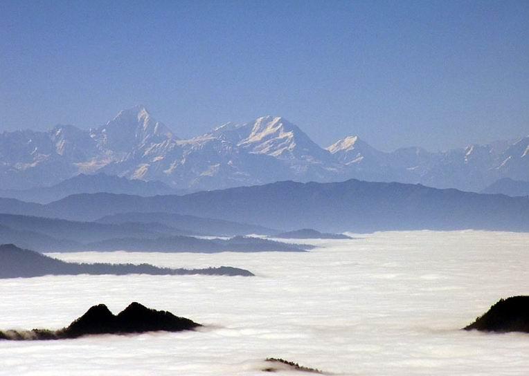 峨眉山雲海圖片