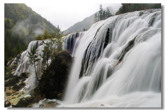 九寨溝瀑布圖片