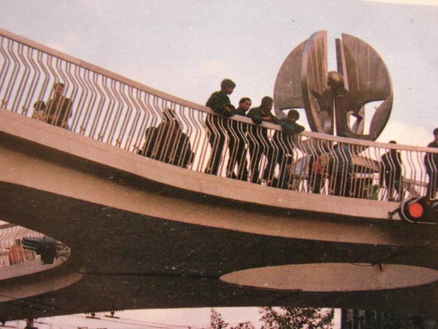 成都老照片-未來號天橋