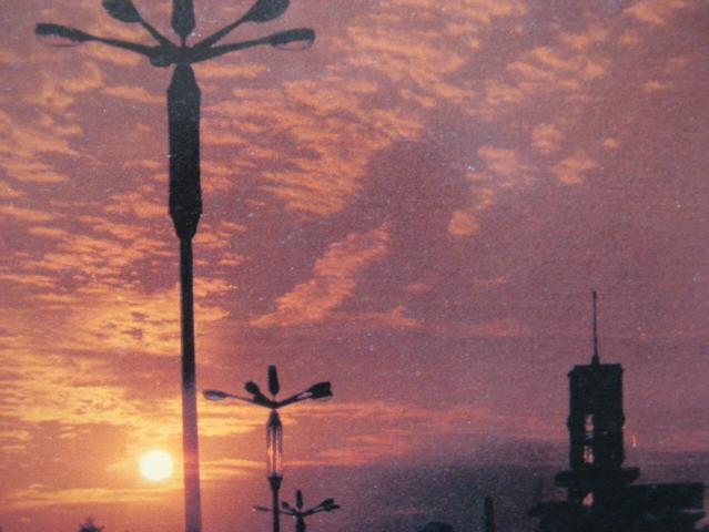 成都老照片-成都80年代的路燈