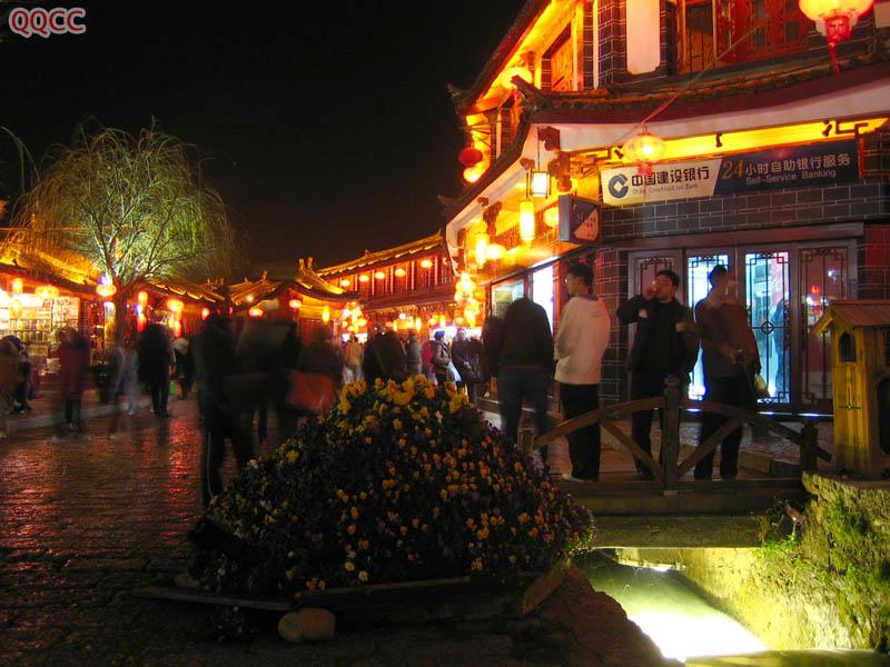 圖片:麗江古城夜景