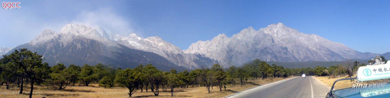 圖片:麗江玉龍雪山全景圖