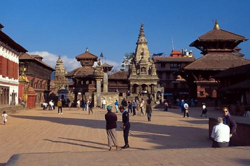 尼泊爾風光圖片:巴德崗杜巴廣場