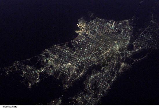 國際空間站十佳地球圖片:洛杉磯美麗夜景