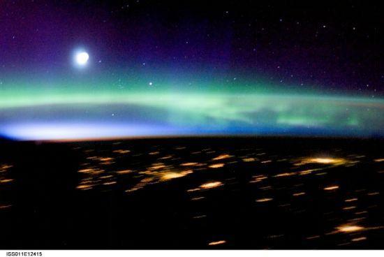 國際空間站十佳地球圖片:壯美的北極光