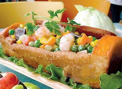 台灣美食圖片:台南特色美食-棺材板