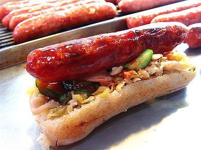台灣美食圖片:特色小吃-大腸包小腸