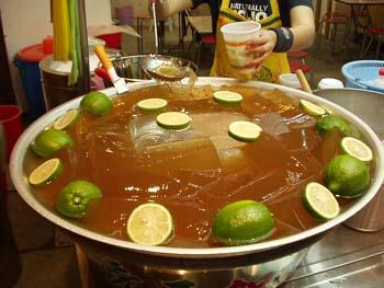 台灣美食圖片:台灣特色的飲品-愛玉冰