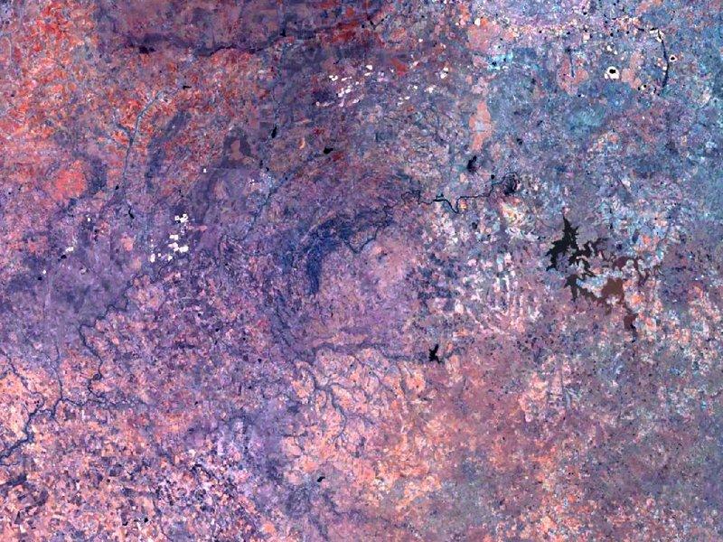 圖片:位於南非的Vredefort 隕石坑