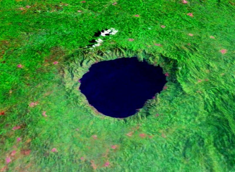 圖片:位於加納的Bosomtwe 隕石坑