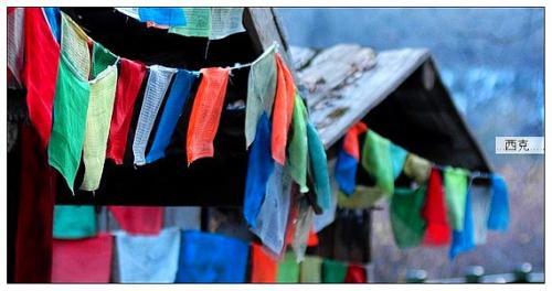 九寨溝冬景風光圖片