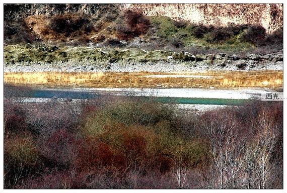 四川九寨溝冬季風光圖片