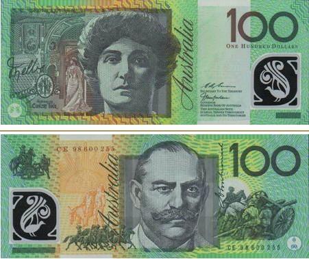 澳大利亞元圖片100澳幣