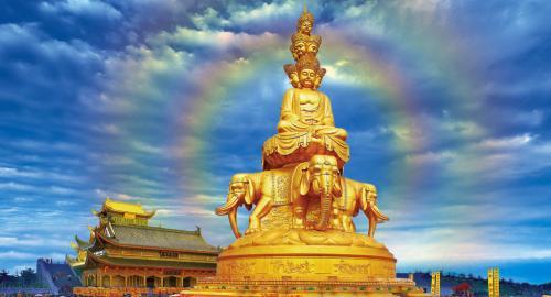 中國四大佛教名山-峨眉山十方普賢佛像